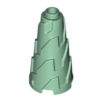 LEGO 6351403 DESIGN BRICK, 2X2X3 CONE - SAND GREEN