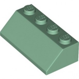 LEGO 6351392 ROOF TILE 2X4/45° - SAND GREEN