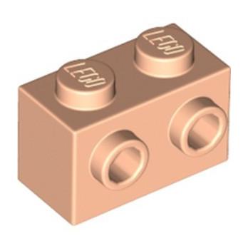 LEGO 6325881 BRICK 1X2 W. 2 KNOBS -  LIGHT NOUGAT