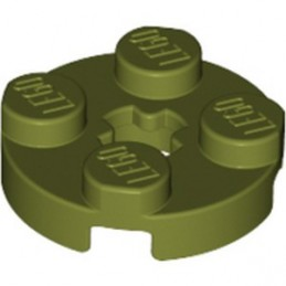 LEGO 6186035 PLATE 2X2 ROUND - OLIVE GREEN
