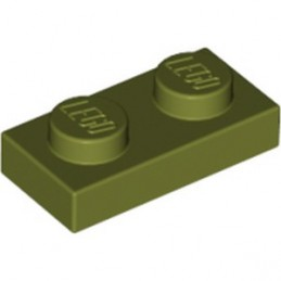 LEGO 6016483 PLATE 1X2 - OLIVE GREEN