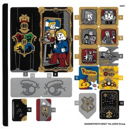 Stickers Lego Harry Potter 76389