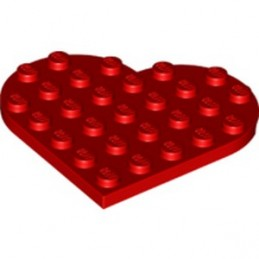 LEGO 6345792 PLATE 6X6, HEART - RED