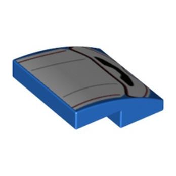 LEGO 6323903 PLATE W. BOW 2X2X2/3 PRINTED - BLUE