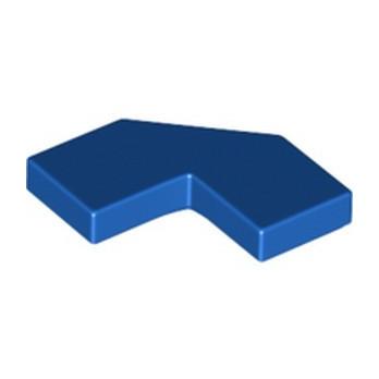 LEGO 6333512 FLAT TILE 2X2, 2X2, DEG. 90, W/ DEG. 45 - BLUE