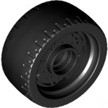 LEGO 6336858 WHEEL Ø24x12 W/ TYRE - BLACK
