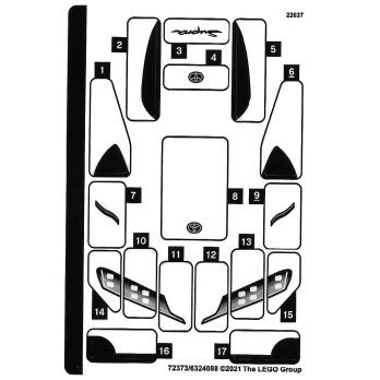 Stickers Lego® Speed Champions 76901