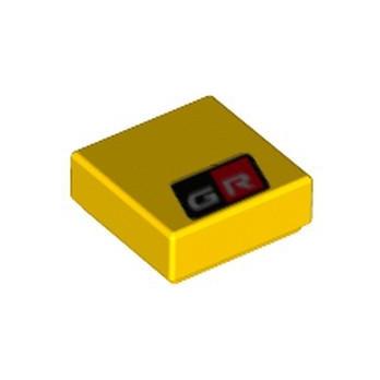 LEGO 6323896 FLAT TILE 1X1 PRINTED - YELLOW