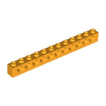LEGO 6282106 TECHNIC BRICK 1X12, Ø4,9 - FLAME YELLOWISH ORANGE