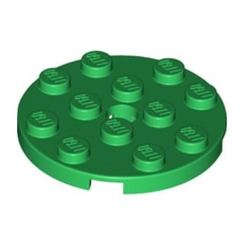 LEGO 6353423 PLATE ROUND 4X4 - DARK GREEN
