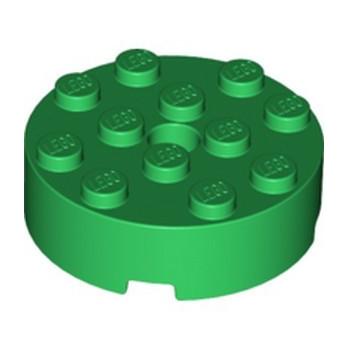 LEGO 6353424 BRICK ROUND 4X4 - DARK GREEN
