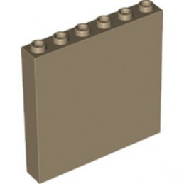 LEGO 6354067 WALL ELEMENT 1x6x5, ABS - SAND YELLOW