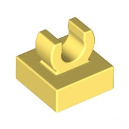 LEGO 6348060 PLATE 1X1 W. UP RIGHT HOLDER - COOL YELLOW