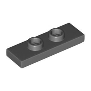 LEGO 6343852 PLATE 1X3 W/ 2 KNOBS - DARK STONE GREY