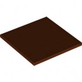 LEGO 6318734  FLAT TILE 6X6 - REDDISH BROWN