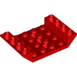 LEGO 6346112 INV. ROOF TILE 4X6, 3XØ4.9 - RED