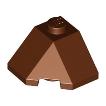 LEGO 6266770 ROOF TILE 2X2X1 45° - DARK BROWN