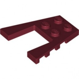 LEGO 6350370 PLATE 4X4 W/ANGLE - NEW DARK RED