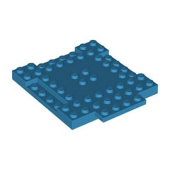 LEGO 6350628 PLAQUE 8X8X6,4 - DARK AZUR