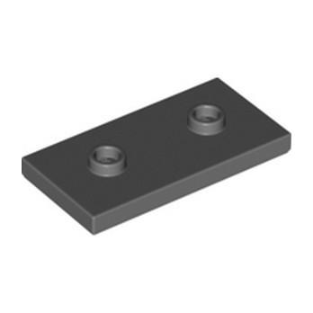 LEGO 6307616 PLATE 2X4 W/ 2 KNOBS - DARK STONE GREY