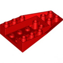 LEGO 6349889 ROOF TILE 4X6/18° INV. - RED