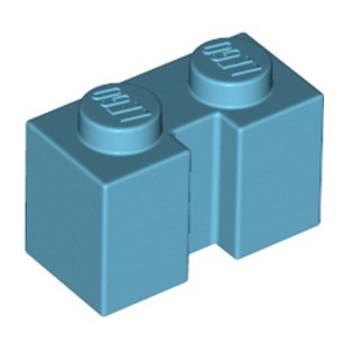 LEGO 6347986 BRICK 1X2 W/ GROOVE - MEDIUM AZUR