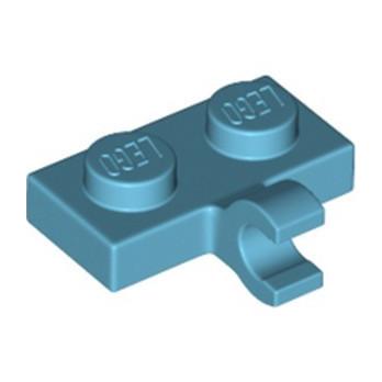 LEGO 6360056 PLATE 1X2 W. 1 HORIZONTAL SNAP - MEDIUM AZUR
