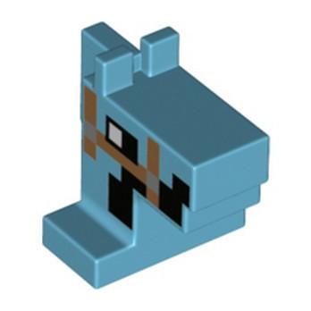 LEGO 6347321 HORSE HEAD MINECRAFT - MEDIUM AZUR