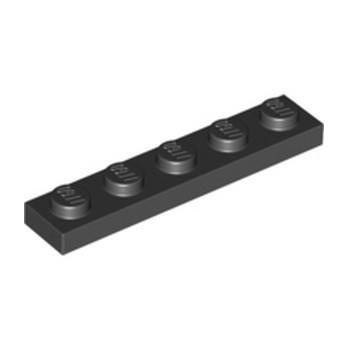 LEGO 6350415 PLATE 1X5 - NOIR
