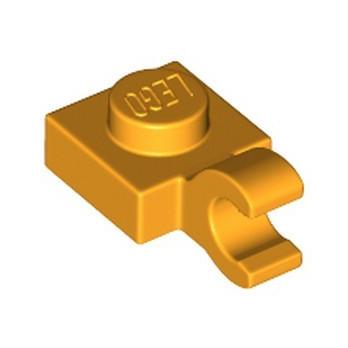 LEGO 6360108 PLATE 1X1 W/HOLDER VERTICAL - FLAME YELLOWISH ORANGE