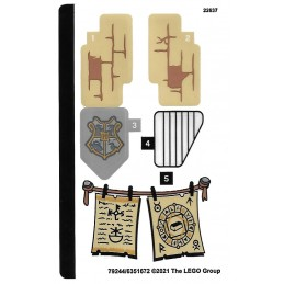 Stickers Lego Harry Potter 76387
