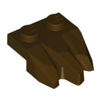 LEGO 6353396 PLATE 2X3, ROCK - DARK BROWN