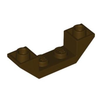 LEGO 6353397 ROOF TILE 1X4, INV., DEG. 45, W/ CUTOUT - DARK BROWN