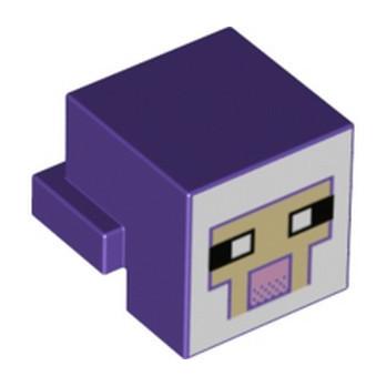 LEGO 6347322 HEAD MINECRAFT - MEDIUM LILAC