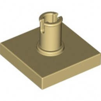 LEGO 6313192 PLATE 2X2 W. VERTICAL SNAP - TAN