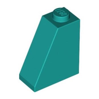 LEGO 6286837 SLOPE 2X1X2 - BRIGHT BLUEGREEN