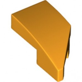 LEGO 6289747 LEFT PLATE 1X2, W/ BOW, 45 DEG. CUT - FLAME YELLOWISH ORANGE
