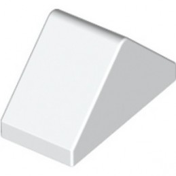 LEGO 6314244 RIDGED TILE 1X2/45° - WHITE