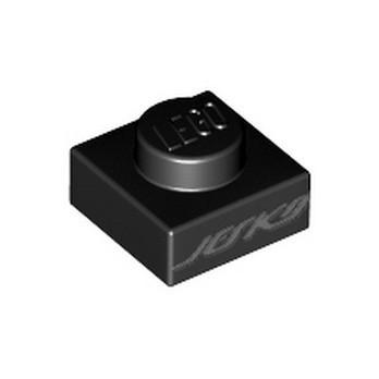 LEGO 6323889 PLATE 1X1 PRINTED - BLACK