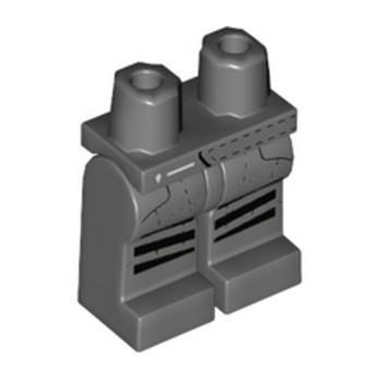 LEGO 6323887 PRINTED LEGS - DARK STONE GREY