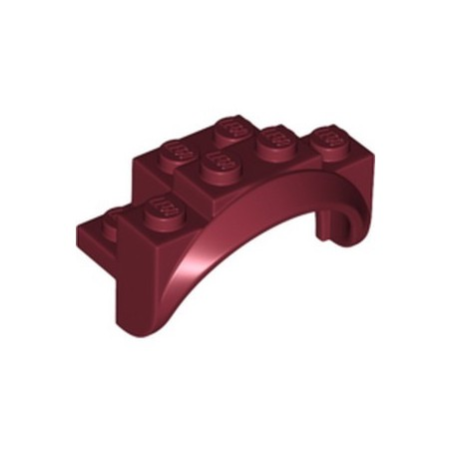 LEGO 6335327 MUDGUARD 2X4X2 - NEW DARK RED