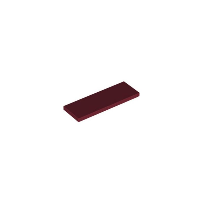 LEGO 6335319 FLAT TILE 2X6 - NEW DARK RED