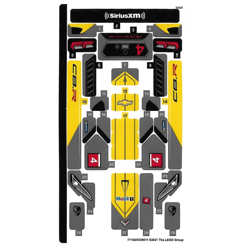 Stickers Lego Speed Champions 76903