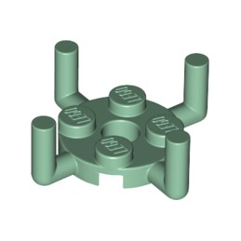 LEGO 6329274 PLATE ROUND 2X2 W. VER.SHAFT - SAND GREEN
