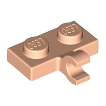 LEGO 6343511 PLATE 1X2 W. 1 HORIZONTAL SNAP - LIGHT NOUGAT