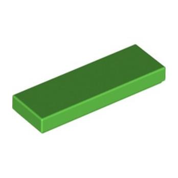 LEGO 6318735 FLAT TILE 1X3 - BRIGHT GREEN