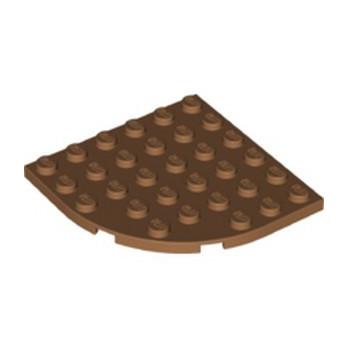 LEGO 6346466 PLATE 6X6 W/ BOW - MEDIUM NOUGAT