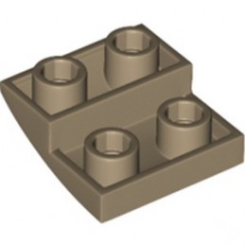 LEGO 6356427 BRICK 2X2X2/3, INVERTED BOW - SAND YELLOW