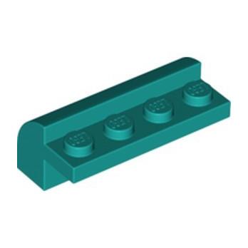 LEGO 6259798 BRICK W. BOW 4X1X1 1/3 - BRIGHT BLUEGREEN