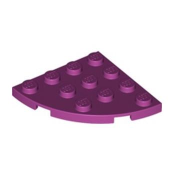 LEGO 6222803 PLATE 4X4, 1/4 CIRCLE - MAGENTA
